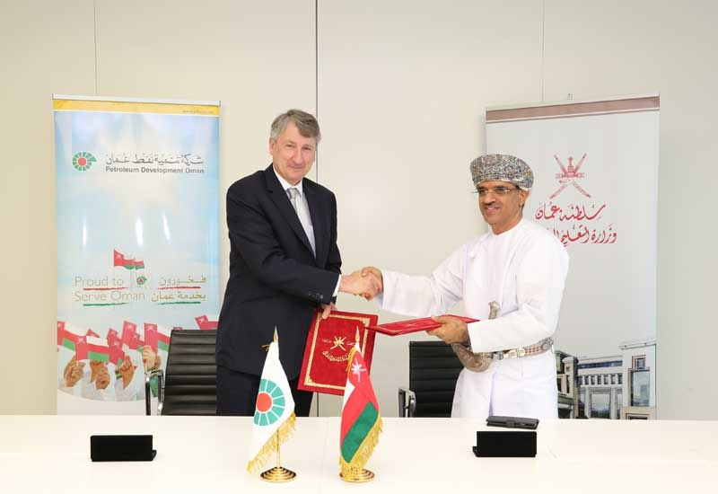 Raoul Restucci (left), managing director, PDO, signed an MoU with Dr Abdullah Mohammed Al Sarmi, undersecretary, Ministry of Higher Education, Sultanate of Oman.