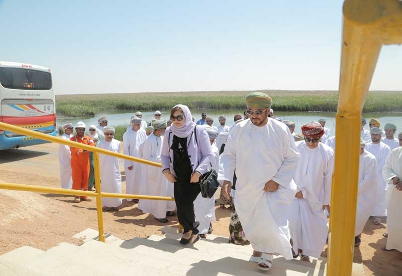 A delegation led by Dr Suad Mohamed Ali Sulaiman Al Lawati, vice chairperson, State Council, Sultanate of Oman, visiting the leading energy-saving projects of PDO.