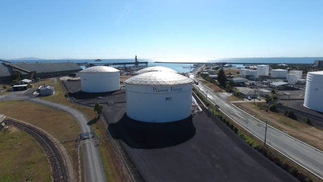Pioneer Energy owns the largest diesel terminal in Mackay, in Australia's Queensland state that comprises three storage tanks, each with a capacity of 25,000 cubic metres.