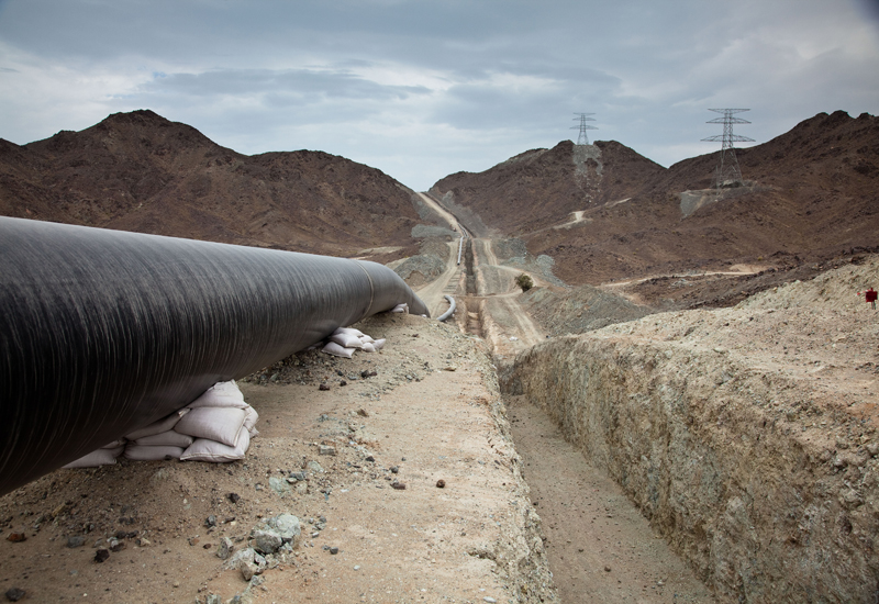 The pipeline will cover 200km, most of which would be under the sea.