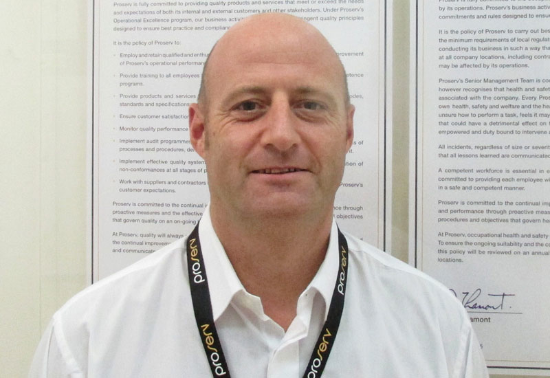 Proserv's Garry Kidd has over a decade's experience of working in the oil and gas industry.