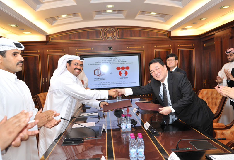 Qatargas has signed a new long-term LNG supply agreement with TEPCO of Japan.