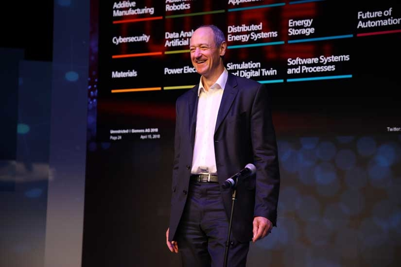 Roland Busch, chief technology officer and member of the managing board of Siemens AG.