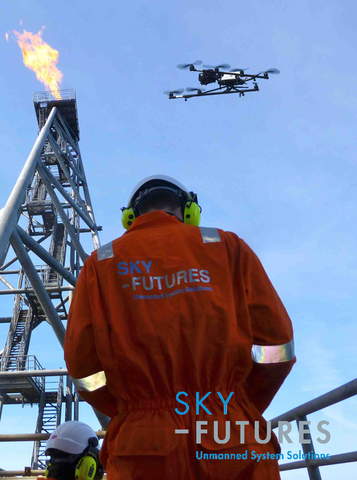 Picture courtesy of Sky Futures, provider of UAV technology.
