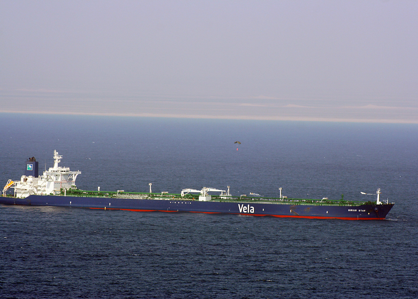 Saudi crude oil tanker.