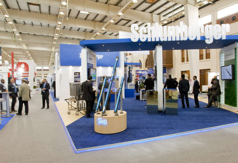 Schlumberger's stand at ADIPEC.