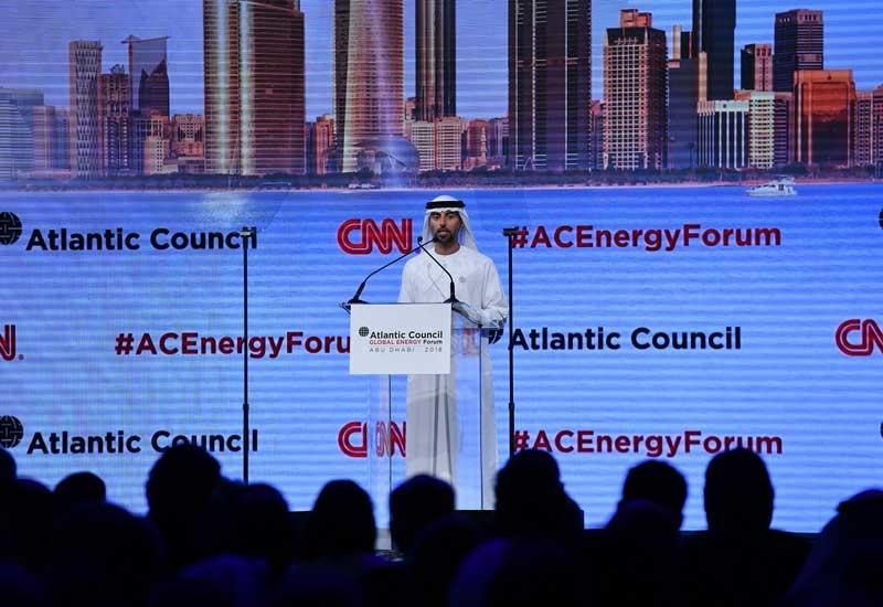 HE Suhail Mohamed Faraj Al Mazrouei, minister of energy, UAE, addressing the Global Energy Forum.