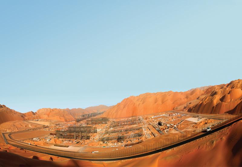 The site of the Shah Gas Field development being undertaken by Al Hosn Gas in the Western Region of the Abu Dhabi desert.