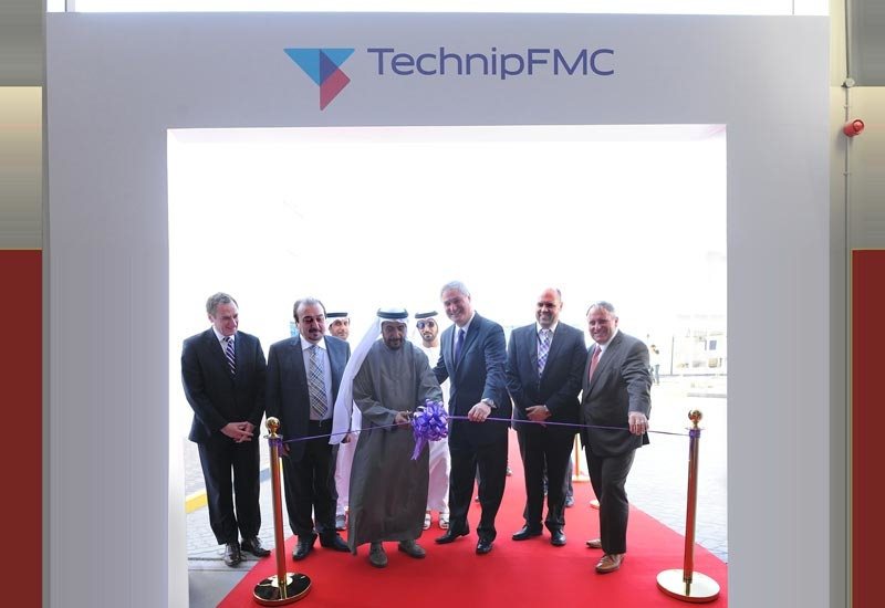 The opening of the facility in Abu Dhabi was officiated by Doug Pferdehirt (third from right), CEO, TechnipFMC