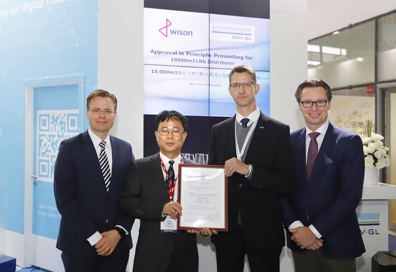 Wison Offshore & Marine received approval-in-principle (AiP) for its LNG Distributor (LNGD) design from DNV GL.