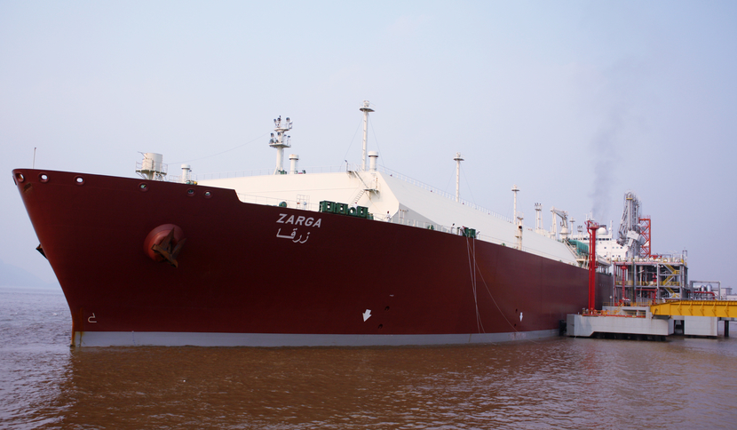 QatarGas delivers cargo to China in its first Q-Max LNG vessels.