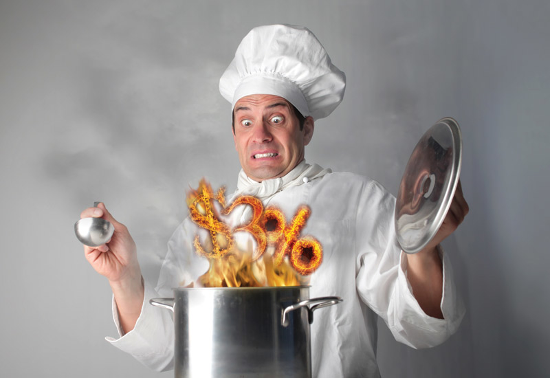 Chefs on oil rigs can earn up to $445,000 a year in the current market.