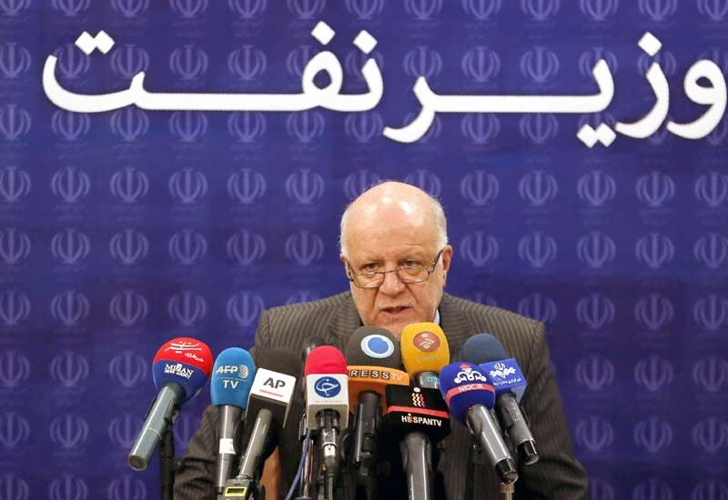 Iranian Oil Minister Bijan Zanganeh at a conference in Tehran.