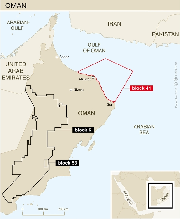 Oxy is looking for 'new hydrocarbon opportunities' within its Block 53 license.