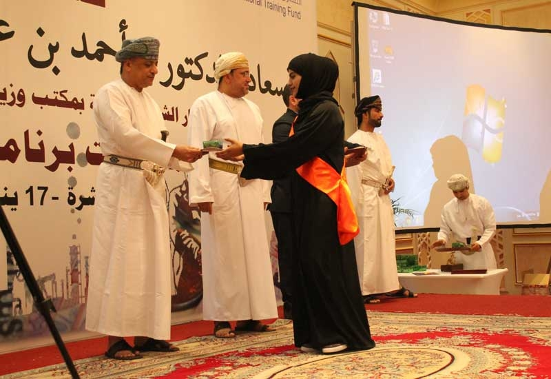 A graduate at the ceremony in Salalah