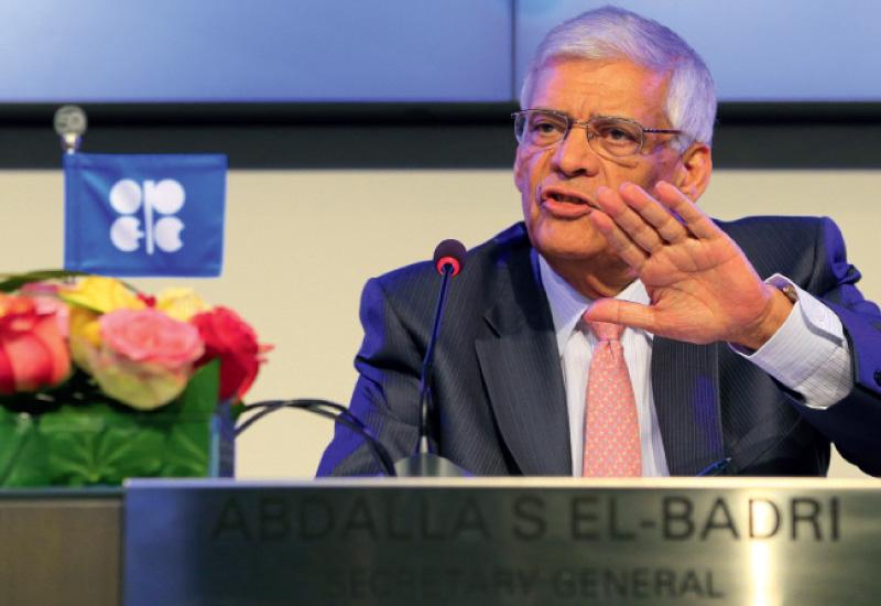 Opec secretary general, Abdalla El-Badri, speaking at the Petrostrategies Summit