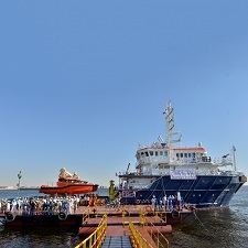 The launch of the new vessel.