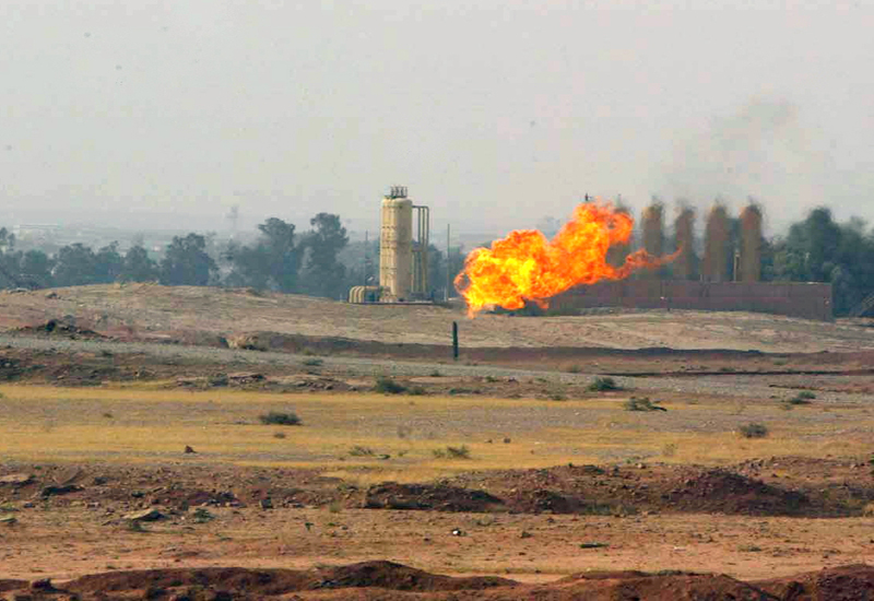 Gas flare in Iraq. GETTY IMAGES