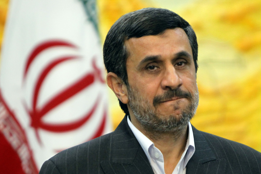 Iranian President Mahmoud Ahmadinejad: if embargo imposed he may close the Stair of Hormuz. GETTY IMAGES