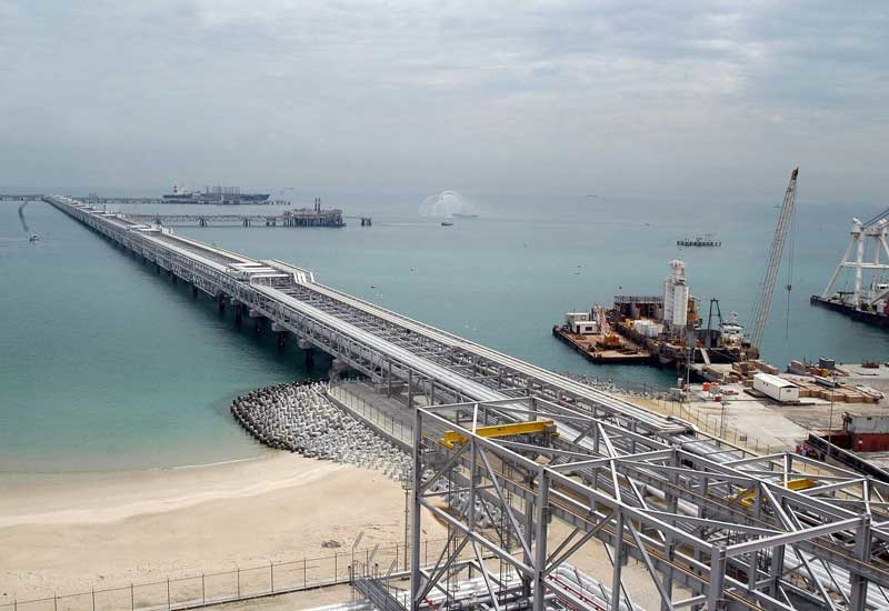 Kuwait?s Mina Al-Ahmadi LNG terminal. (GETTY IMAGES)