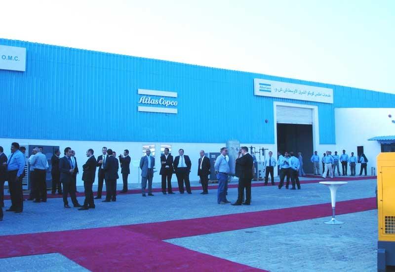 Atlas Copco's newly inaugurated service centre in the Al Quoz industrial estate in Dubai.