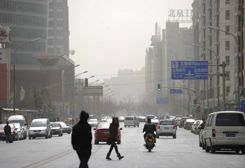 Increased use of gas for power generation will reduce smog in cities such as Beijing. GETTY IMAGES