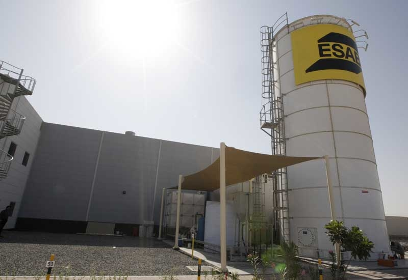 ESAB's new facility recycles all of the water it uses using its onsite processing facility.
