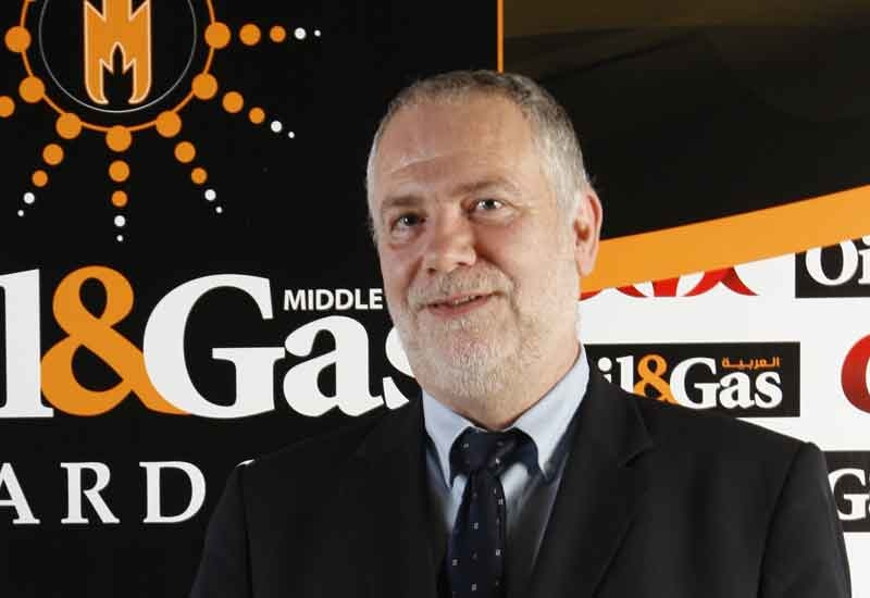Cor Corbeek received the Oil & Gas Middle East Award on behalf of Emerson.