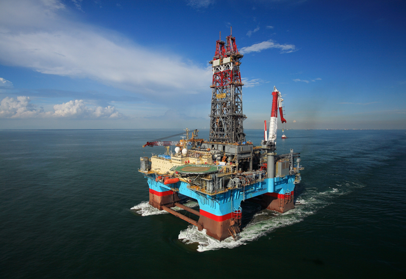 ExxonMobil's semi-submersible drilling rig. Picture Courtesy of Exxon.