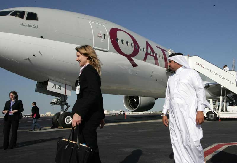 Qatar's national airline will support the 4-day energy conference in December that is expected to attract 4,000 delegates. (GETTY)