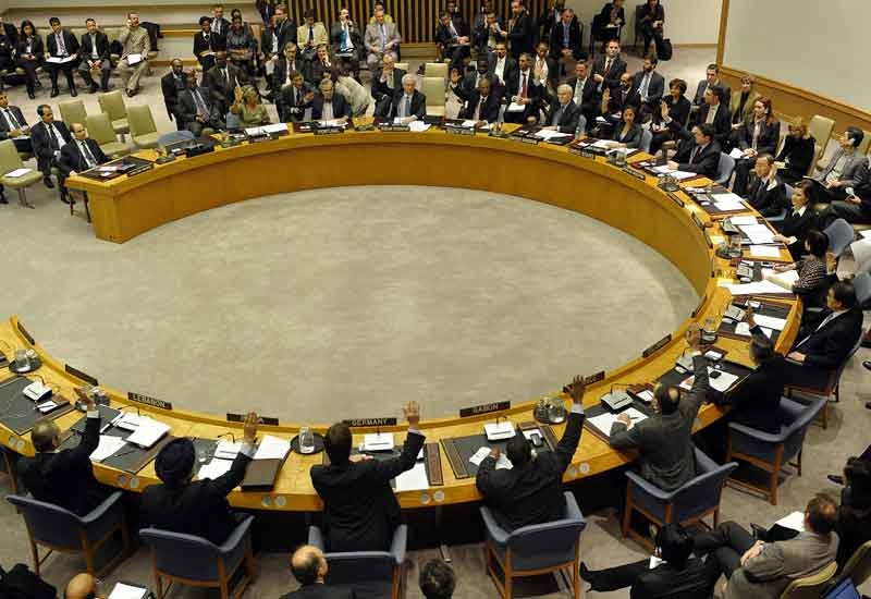 The UN Security Council unanimously ordered an arms embargo against Libya, a travel and assets ban on Muammar Gaddafi's regime. (GETTY)