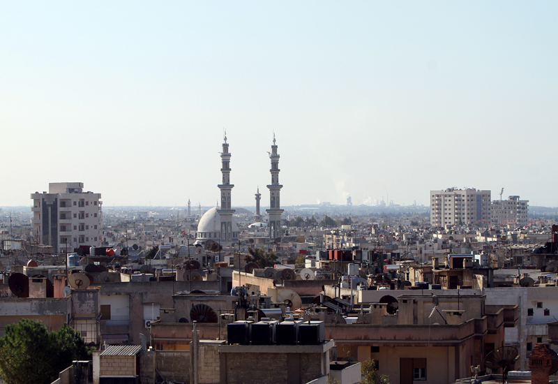 The city of Homs, where the Syrian government launched a brutal crackdown on protests earlier this year. GETTY IMAGES