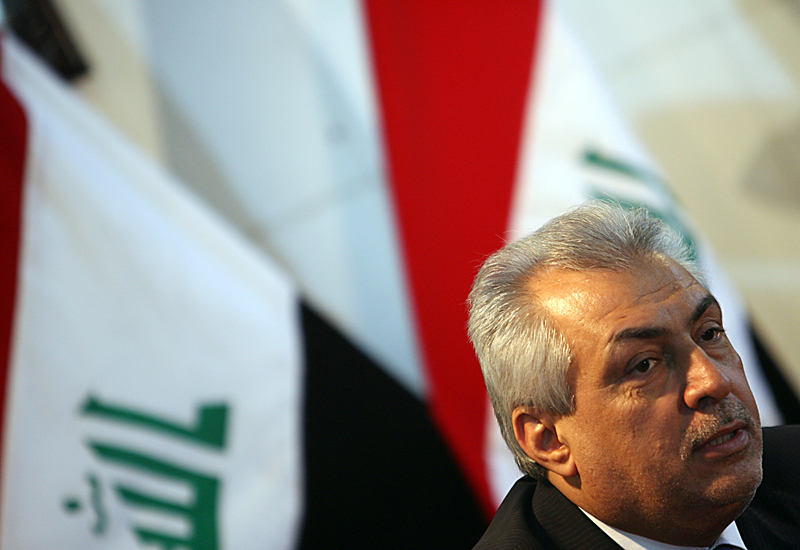 Iraqi Oil Minister Abdul Karim al-Luaibi is pressing ahead with the fourth round, despite objections. GETTY IMAGES