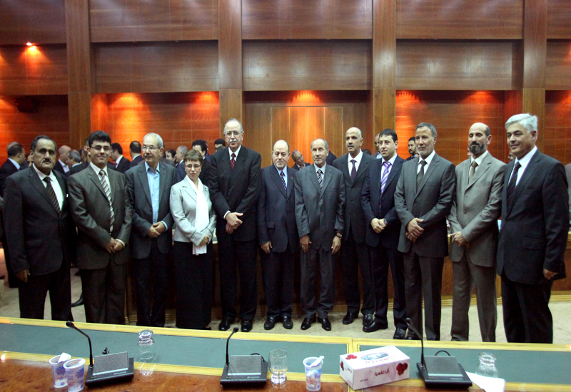 The new Libyan cabinet. The committee is yet to be formally announced. GETTY IMAGES