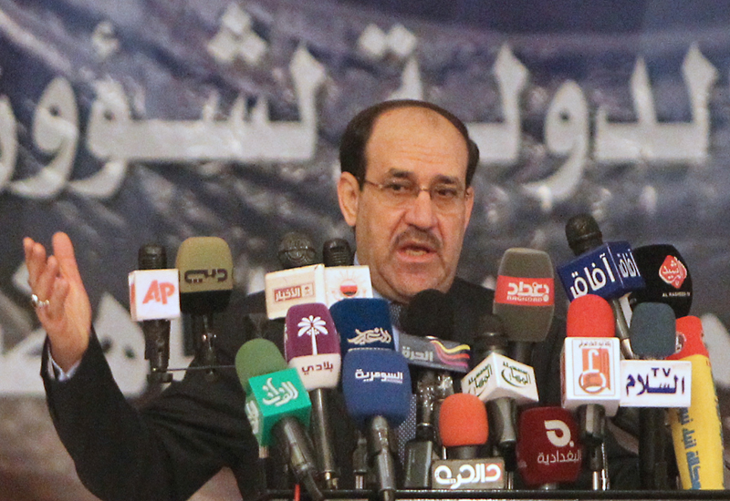 Iraqi PM Nouri al-Maliki: not cancelling Exxon's contract. GETTY IMAGES