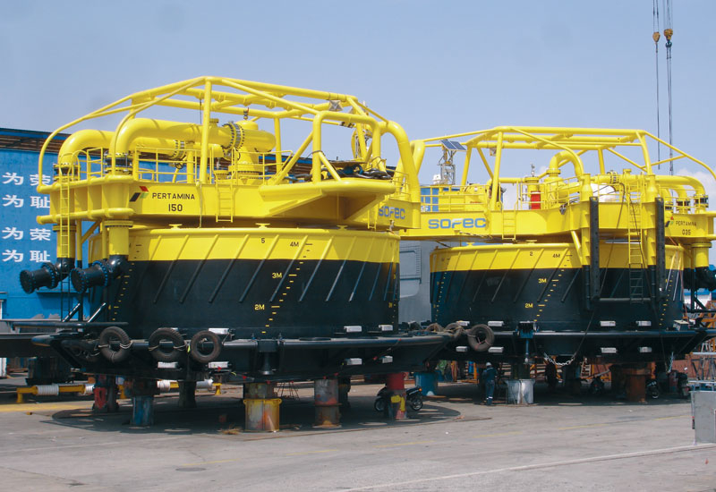 SOFEC'S latest catenary anchor leg mooring systems (CALMs) offering being readied for delivery.