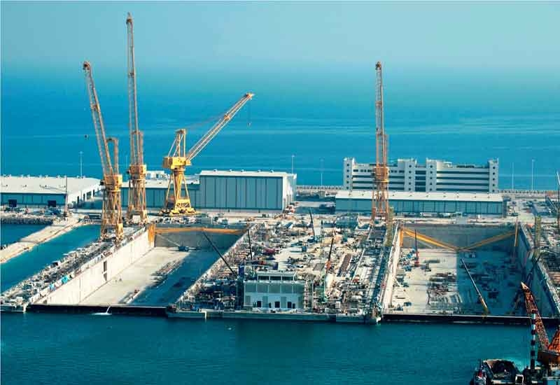 The world's deepest drydock has received its first vessel in Qatar.