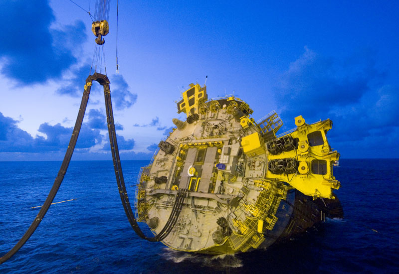 A Spar is a cylindrical, partially submerged offshore drilling and production platform that is well-adapted to deepwater. (Shell's Perdido Spar pictur