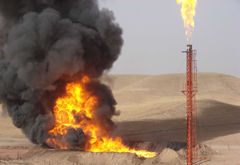 Sarqala 1 well (here, in testing) pumps 96,000 barrels in November for domestic market.