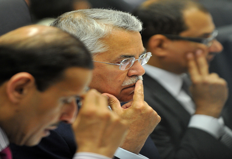 Saudi Minister of Petroleum and Mineral Resources Ali Ibrahim Al-Naimi faces the press. GETTY IMAGES