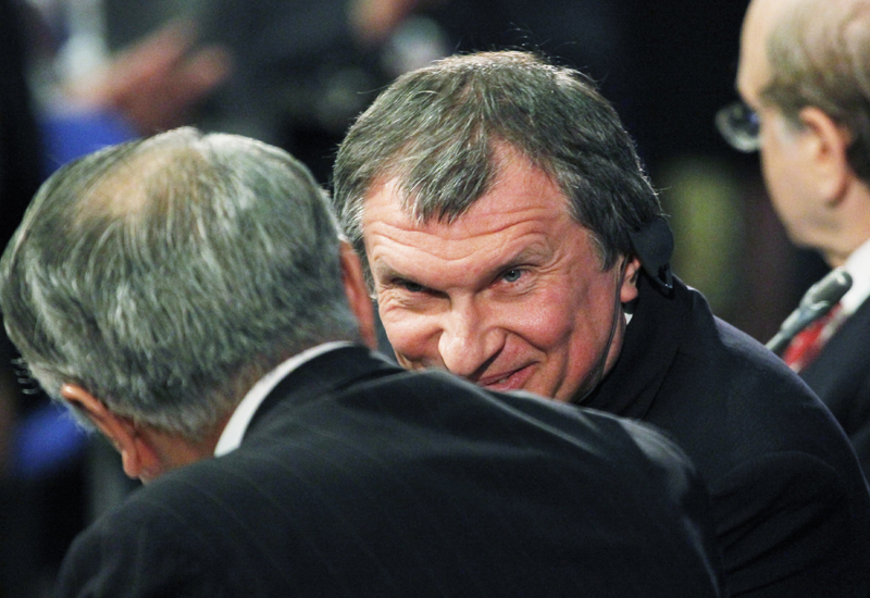 Igor Sechin: looking to tie up with Gazprom on gas exports. GETTY IMAGES