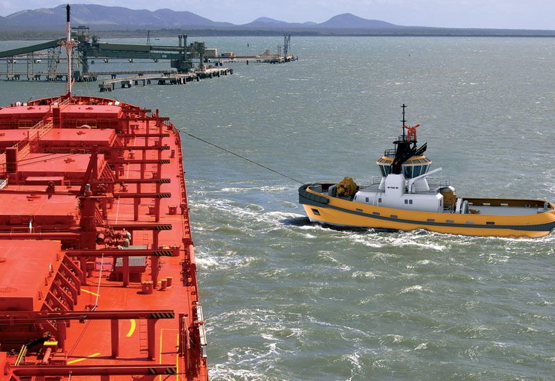 The W Tug 80, designed for 80 ton bollard pull, can attain a speed of 14.5 knots.