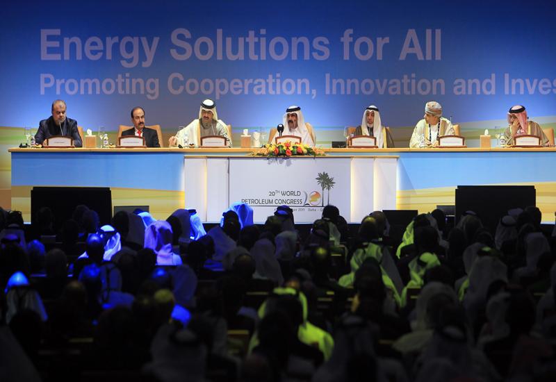 Sheikh Hamad Bin Khalifa Al-Thani, Emir of the State of Qatar (c) opening WPC 2011. GETTY IMAGES