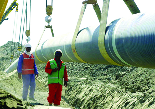 The 2700km pipeline will transfer gas from Iran's South Pars gas field to Pakistan's southern Baluchistan and Sindh provinces.