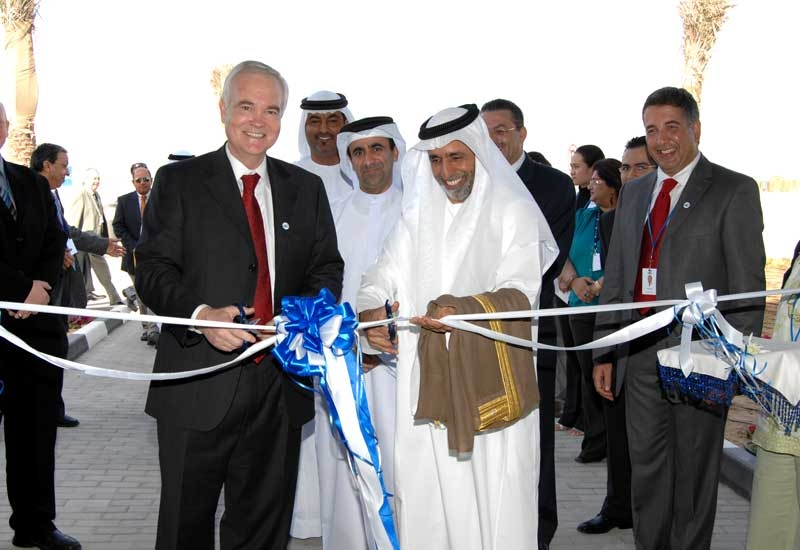 Baker Hughes CEO Chad Deaton had a helping hand from ADNOC CEO Yousef Omair Bin Yousef to open the Baker Hughes Dubai facility in February last year.