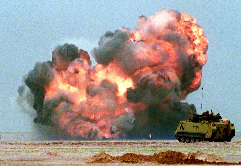 Iraq invades Kuwait 1990. (PASCAL GUYOT/AFP/Getty Images)