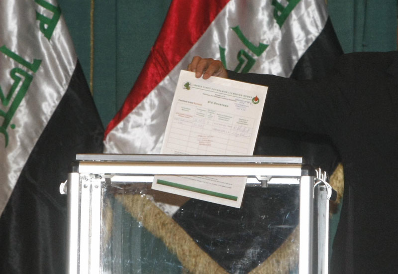 The Iraqi oil auctions. (Getty Images)