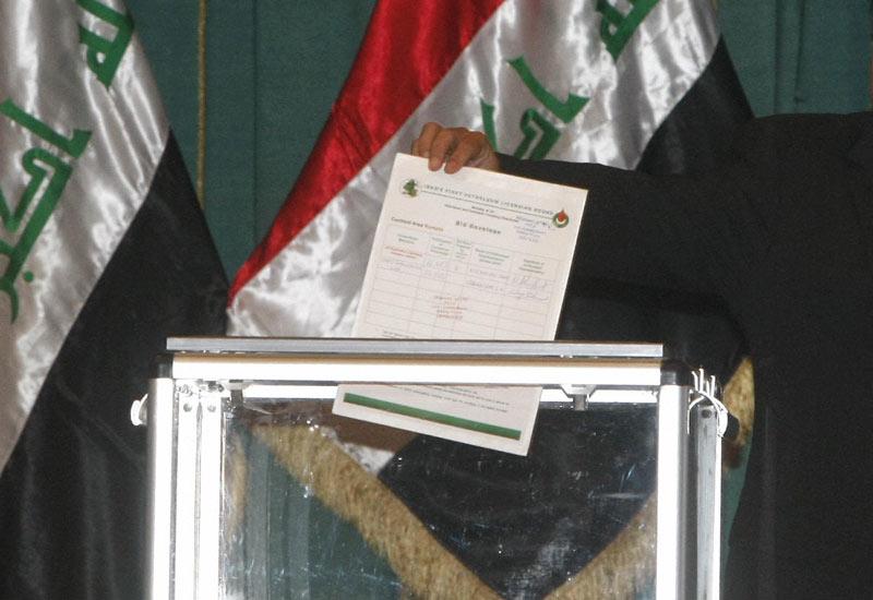 Iraq oil auctions. (SABAH ARAR/AFP/Getty Images)