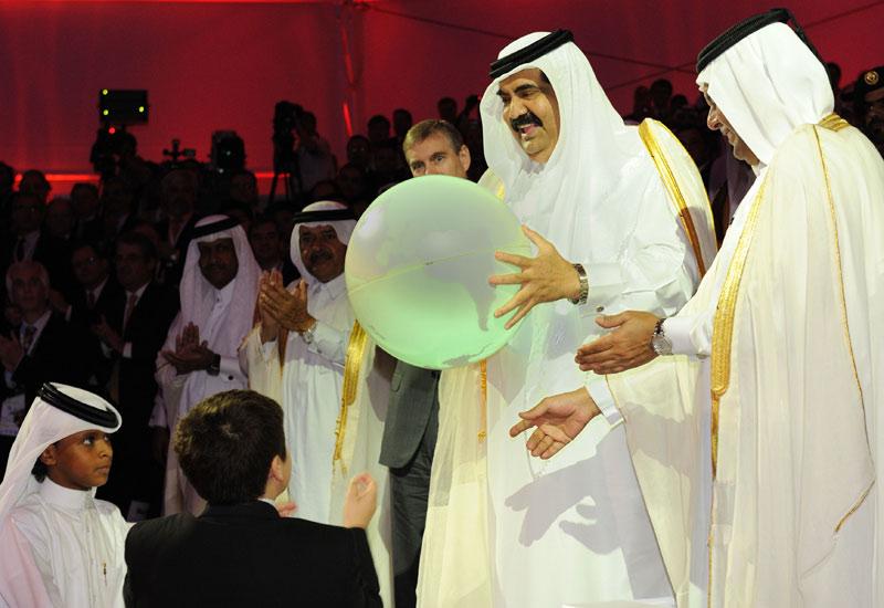 The Qatargas 2 inauguration in Qatar.
