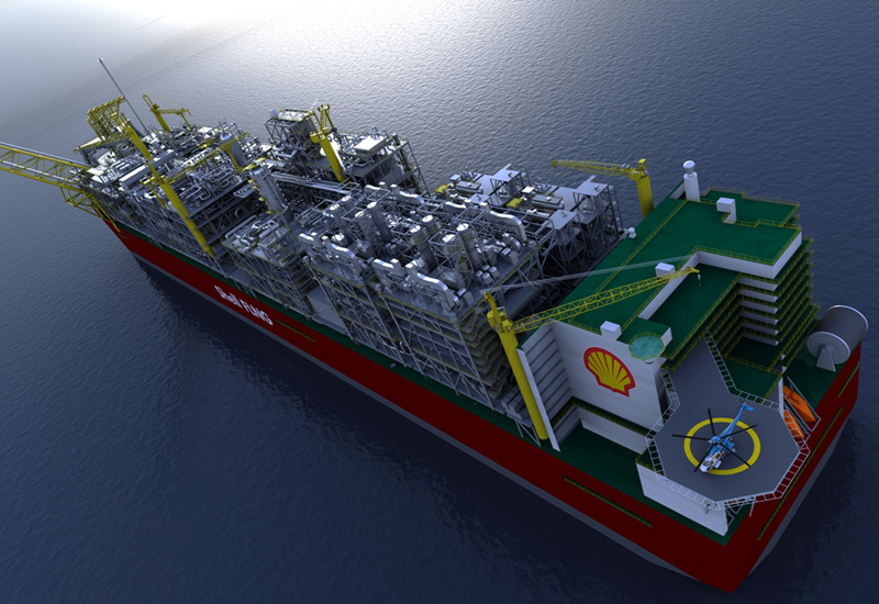 The Shell FLNG facility will weigh around six times as much as the largest aircraft carrier in existence.